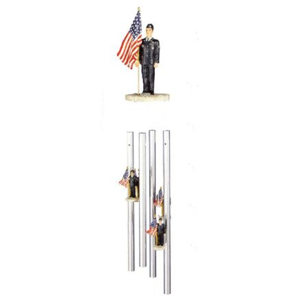 Air Force US Flag Wind Chimes