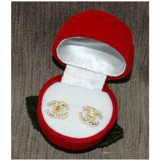 Silver Gold Plated Earring