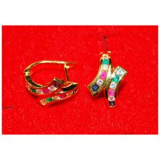 Gold Earring Multi-Color