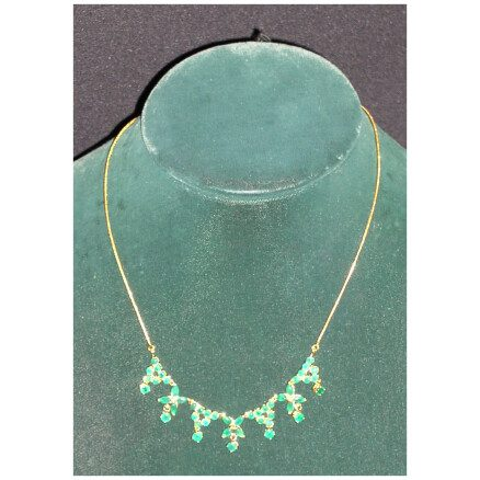 Necklace of Seven Green Flowers