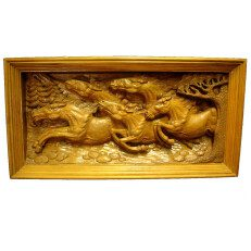 Hand Carved Running Horses