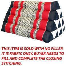 Triangle Pillow Black Red