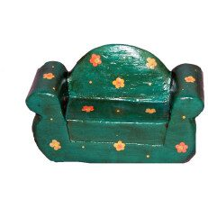 Two Seater Chair Green