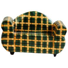 Wood Two Seater Chair Stripe