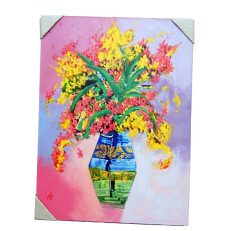Abstract Painting Color Flowers