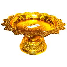 Gold Finish Serving Stand-5.5
