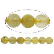 Natural Hair Quartz Beads