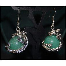 Dragon Earring Green