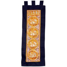 Kalaga Tapestry Elephant-Black