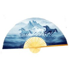 Hand Painted Fan Horses