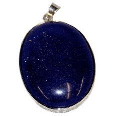 Dark Blue GoldStone Pendant
