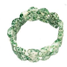 Tree Agate Bracelet with Flex Band