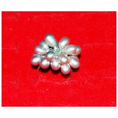 Silver Pearl Ring Cluster