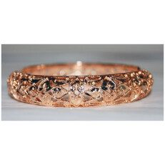 Copper Deco-3 Spring Bangle