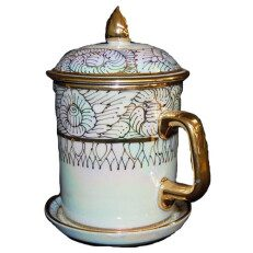 Stein with lid and saucer