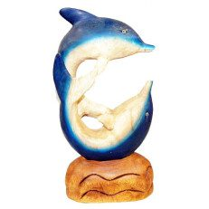 Two Dolphins Blue White