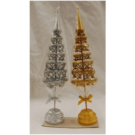 Gold or Silver Buddha Tree-11