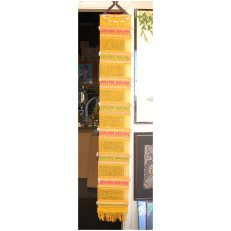 Hanging Thai Wall Fabric Yellow